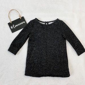 Old Navy Baby Girl Black Sweater Tunic Dress